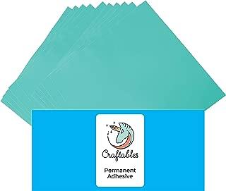Craftables Mint Vinyl Sheets - Permanent, Adhesive, Glossy & Waterproof   (10) 12