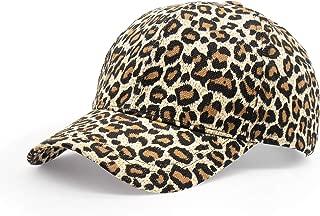 HAODIAN Women's Stylish Leopard Print Ponytail Baseball Cap Mesh Trucker Hat Ponycap