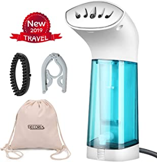 Mini Travel Garment Steamer for Clothes Handheld Portable Clothing Ironing, Steaming Clean, Sterilize, Refresh, Defrost, Fabric Wrinkle Remover for Home, Travel (White)