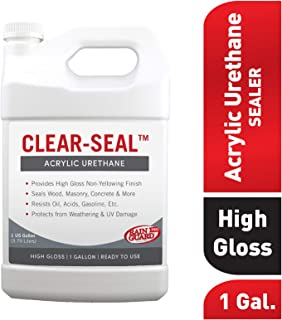 Rain Guard Water Sealers CU- 0101 Seal Acrylic Urethane Coating High Gloss 1 gal (Ready to Use), Clear