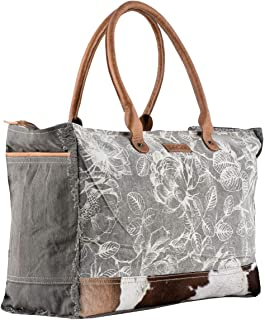Sixtease Duende Upcycled Canvas & Genuine Leather Weekender Bag SB-2147