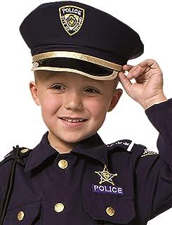 Bambini Nero CASCO polizia polizia Casco Bambini Casco polizeihut cappello poliziotto COP