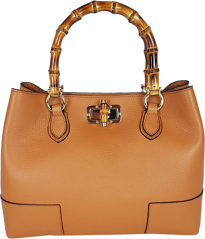 Handväska för Bambu Handväska Äkta Äkta Äkta Läder Bog väskaläder tillverkad i Italien  kunder först
