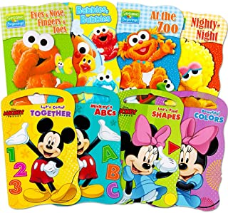 2 Set of Baby Toddler Beginnings Board Books (Sesame Street Set Mickey Mouse and Friends Set) - Total 8 Books