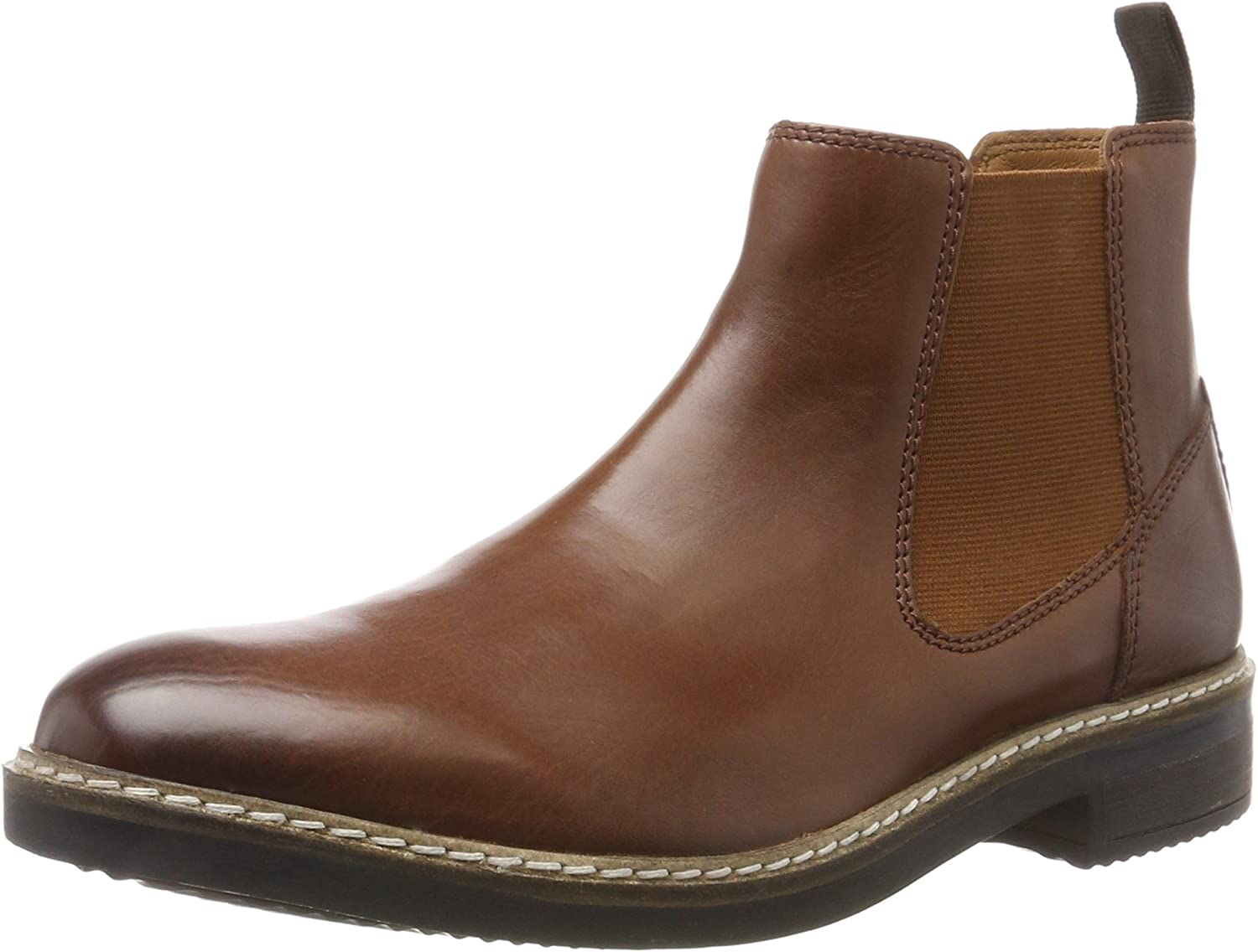 Clarks Blackford Top - British Tan Leather (Brown) Mens Boots