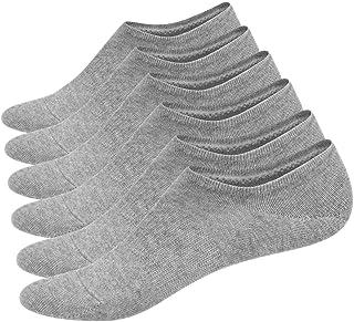 6 pares de calcetines para hombre, antideslizantes, almohadilla de silicona invisible, calcetines cortos invisibles