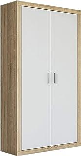 comprar comparacion HomeSouth - Armario Dos Puertas Dormitorio habitación, Acabado en Color Blanco y Cambria, Modelo Lara, Medidas: 105 cm (La...