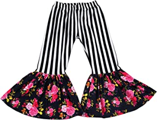 Baby Girls Flamingo Cactus Printed Bell-Bottoms Ruffled Floral Flared Pants