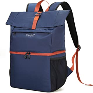 TOURIT Cooler Backpack Large Insulated Lunch Backpack Lightweight Backpack with Cooler Compartment for Men Women to Work Picnic Hiking Beach Park or Daily Trips - Double Decker Backpack