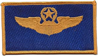 Command Pilot Wings Patch Blue And Gold