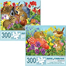 Bits and Pieces - Value Set of Two (2) 300 Piece Jigsaw Puzzles for Adults - Each Puzzle Measures 18
