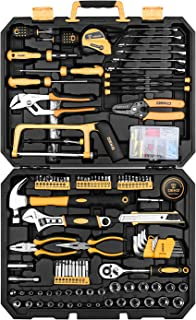 DEKOPRO 198 Piece Home Repair Tool Kit, Wrench Plastic Toolbox with General Household Hand Tool Set