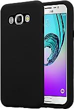 Cadorabo Funda para Samsung Galaxy J7 2016 en Negro ÓNICE – Hybrid Cubierta con Interior Silicona TPU e Bipartito Exterior Plástico – Case Cover Carcasa Protectora Ligera