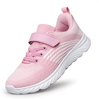 Unisex Toddler/Little Kid Boys Girls Velcro Sneakers Breathable Kids Shoes Walking Running Sports Sneakers Lightweight and...