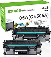 Aztech - Cartucho de tóner Compatible para HP 05A CE505A (2 Unidades), Color Negro