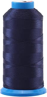 Selric [1500 Yards/Coated/No Unravel Guarantee/21 Colors Available] Heavy Duty Bonded Nylon Threads #69 T70 Size 210D/3 for Upholstery, Leather, Vinyl, and Other Heavy Fabric (Navy Blue)