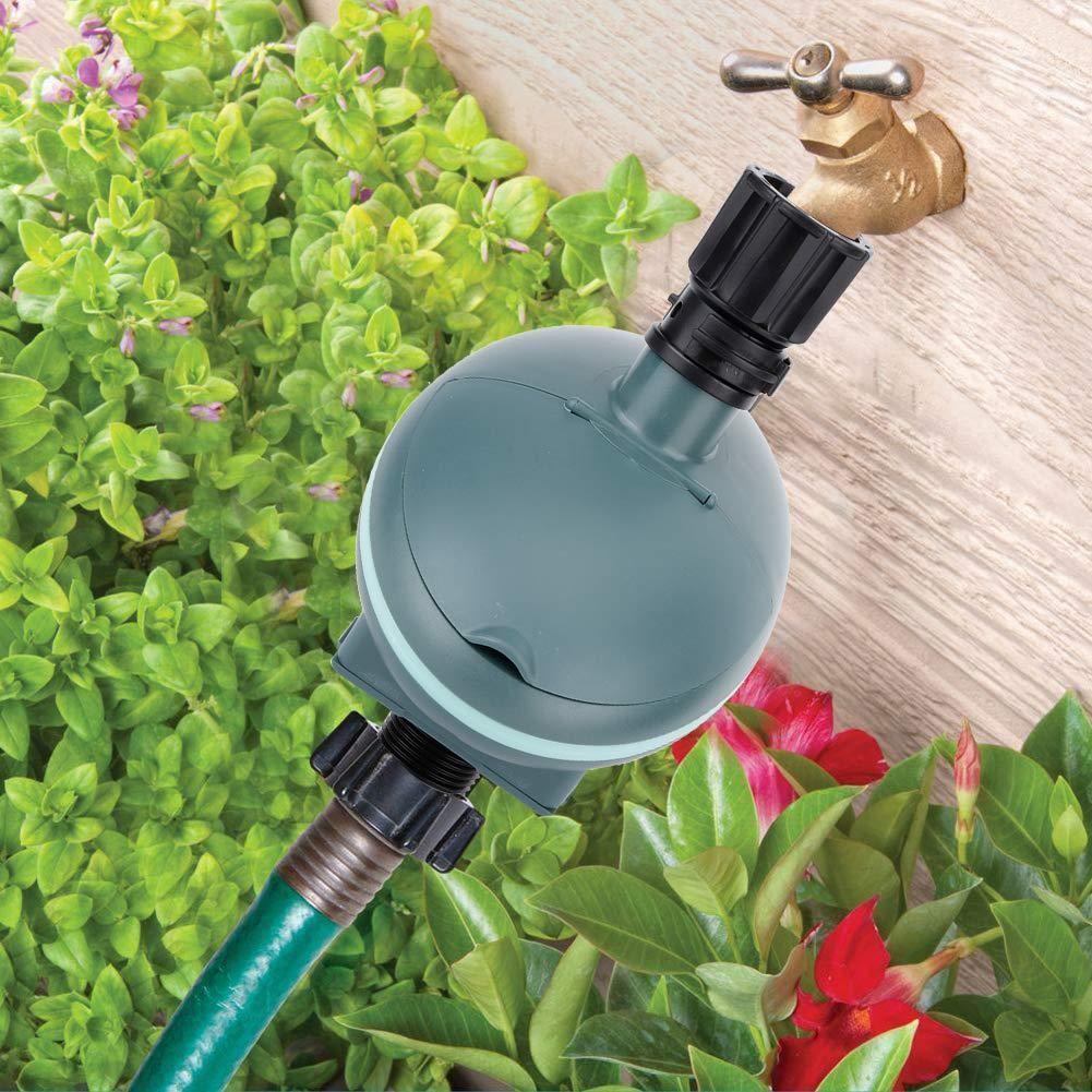 keyren Regulador de riego con Temporizador de riego, Temporizador de Agua a Prueba de Lluvia ABS de Hilo Macho Hembra G3 / 4in, para jardín de césped: Amazon.es: Hogar