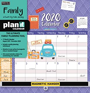 Wells Street by LANG WSBL Family 2020 Plan-It Plus (20997009162) Academic Wall Calendar (20997009162)