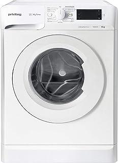 Privileg PWF MT 61483 Waschmaschine Frontlader/1351 UpM/ 6 kg/Startzeitvorwahl/Kurzprogramme/Eco-Motor/Wolle-Programm/Mehrfachwasserschutz , Weiss [Energieklasse D]