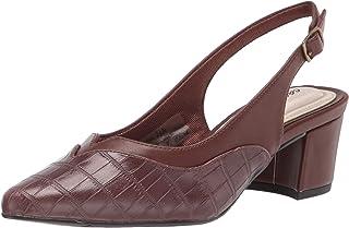 حذاء نسائي من Easy Street، بني كروكو 8 X-واسع الولايات المتحدة