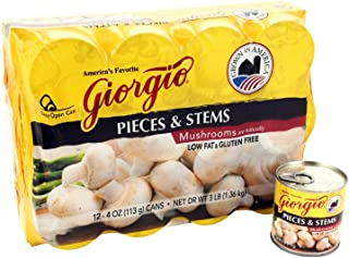 Giorgio Mushroom Pieces & Stems (Case of 24)