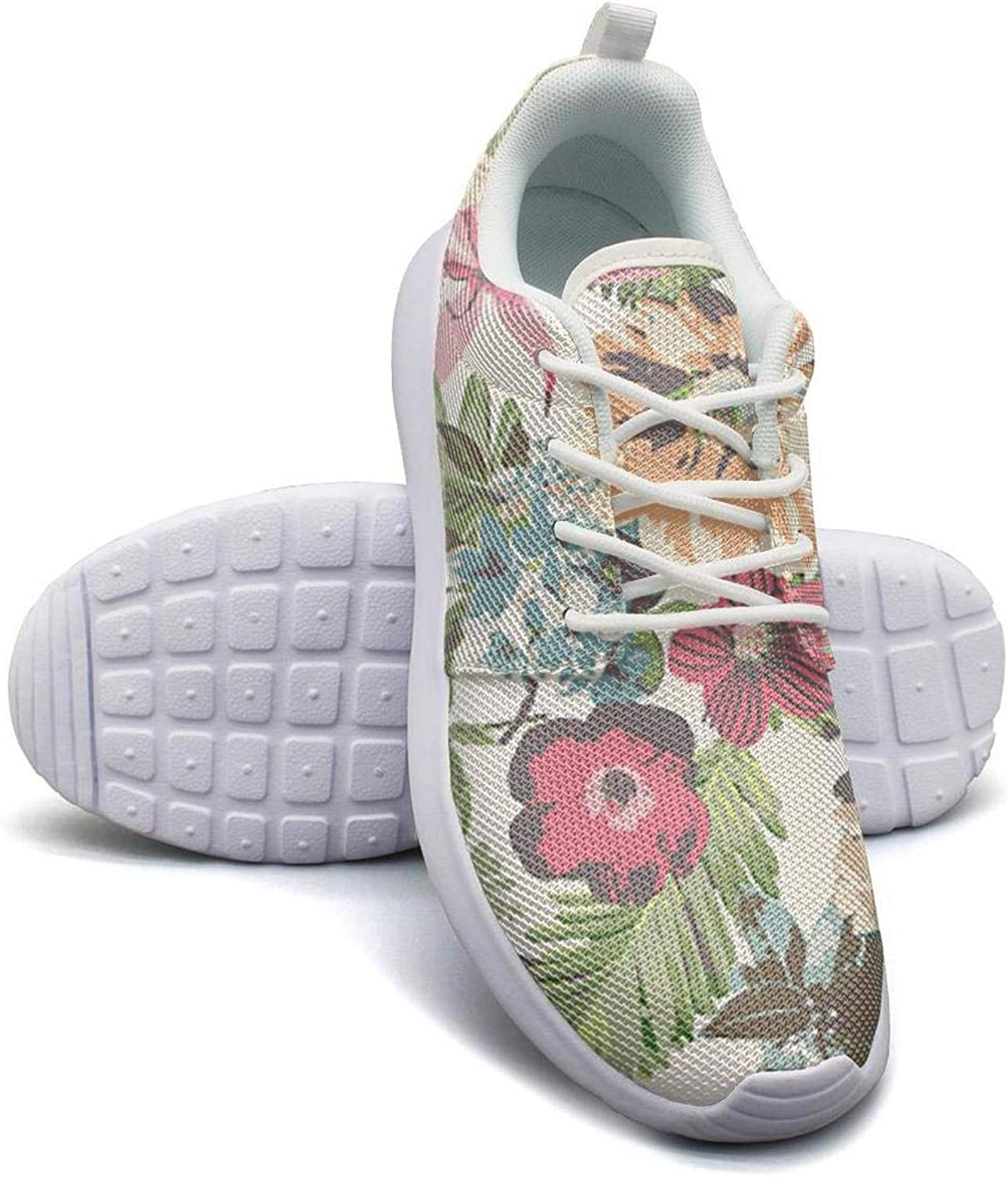 CHALi99 Casual Womens Lightweight Mesh shoes Tropical Floral Flowers Sneakers Trail Running Rubber Sole