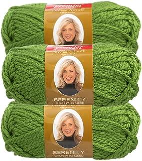 Premier Yarns (3 Pack Deborah Norville Serenity 100% Acrylic Soft Holly Green Yarn for Knitting Crocheting Chunky #5