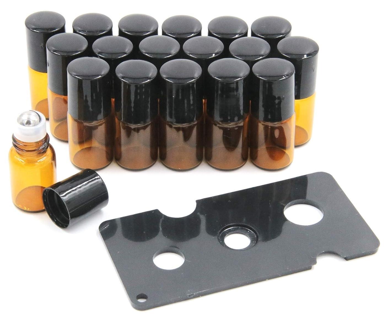 ダーツタッチ科学者XPdesign アロマ ロールオン遮光瓶 アロマオイル 遮光瓶 保存 容器 小分け 詰め替え 香水 ボトル (2ml18本セット)