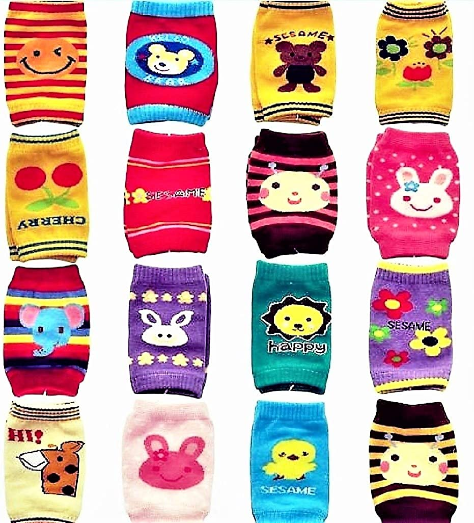 Baby Toddlers Knee Pads for Crawling. Soft, and Breathable Non-slip, Unisex (2 pairs) Random Designs