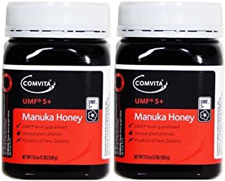 Comvita Manuka Honey UMF5+ 1.1LBS/500GR Set of 2 Jars