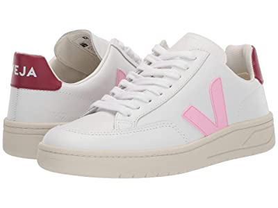 VEJA V-12 (Extra White/Mauve/Marsala Leather) Women