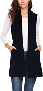 4af2e22f13 Beyove Women s Sleeveless Shawl Draped Waterfall Open Front Cardigan Vest  Top ...