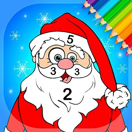 Livro de colorir cristmas por números