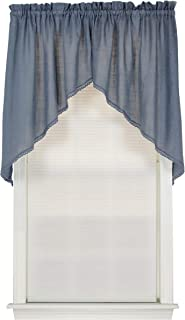 Connemara 72 Inches Wide x 38 Inches Long Linen and Polyester Swag Curtain, Blue