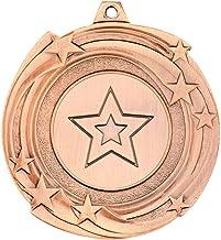 Lapal Dimension Star Cyclone Medal (2,5 cm midden) - Brons - 5,1 cm Pack van 10