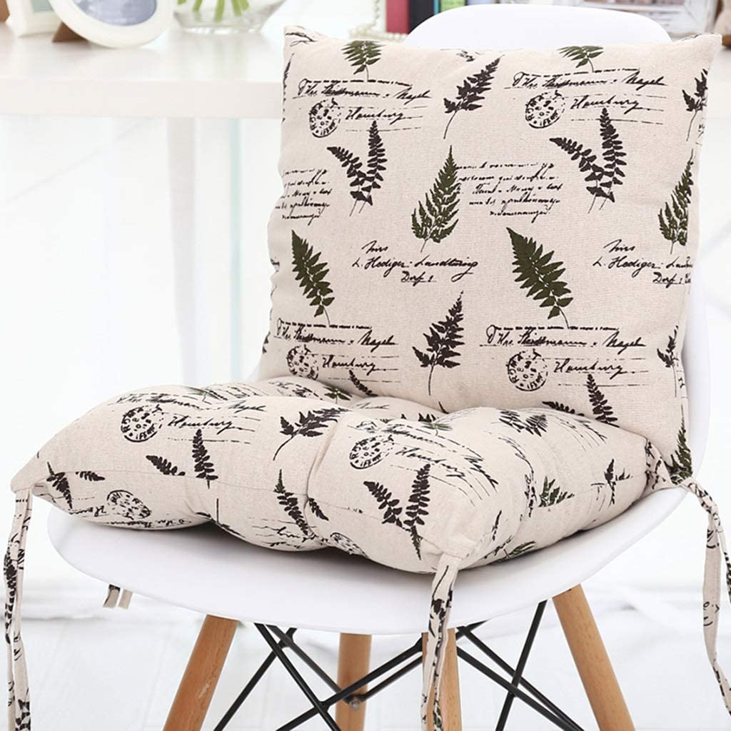 YAWEDA Chair Cushions 100% Linen Cushion Thicken Very popular! Back New product type One-Piece