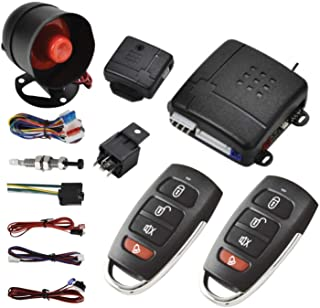 $34 » MASO Car Central Lock Universal Auto Remote Central Kit Vehicle Door Lock with Shock Sensor + Contorl Box + 2 Replacement ...