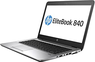HP Elitebook 840 G4 14in Notebook, Windows, Intel Core i5 2.5 GHz, 8 GB RAM, 256 GB SSD, Silver (1GE41UT#ABA) (Renewed)