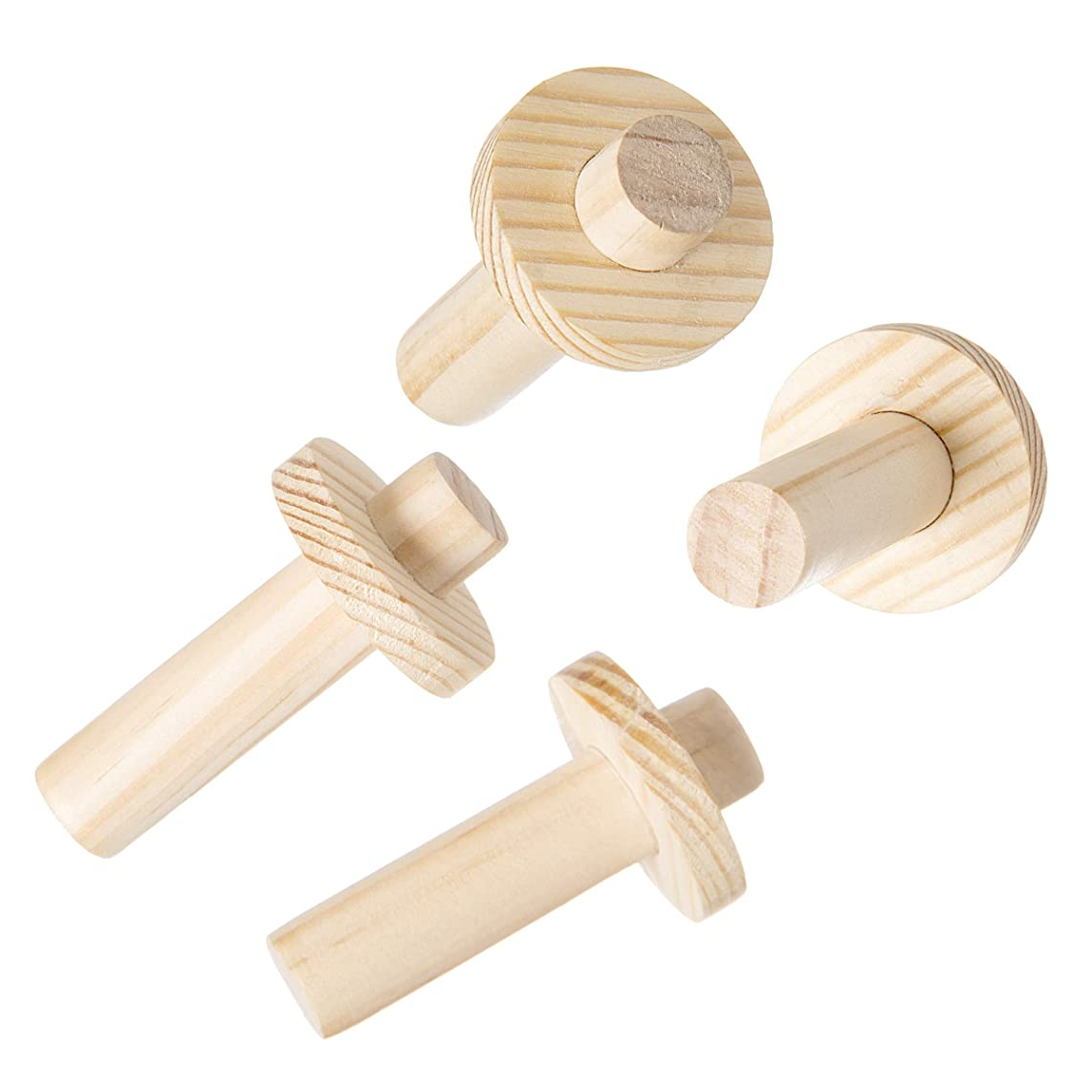 Darice 30053065 System: Wooden Pegboard Dowels, 1.25 x 2.75 Inches, 4 Pieces, Unfinished/Natural