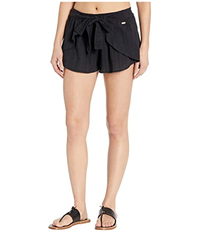 Roxy Salt Washed Cover-Up Shorts (Anthracite) Women