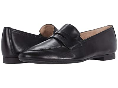 Paul Green Bonnie Flat (Black Leather) Women
