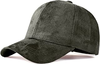 Snapback Caps Faux Leather Suede Baseball Cap Women Adjustable Casual Low Profile Dad Hat Men Black