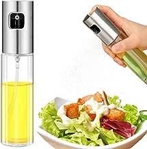 Olive Oil Sprayer, Food-grade Glass Oil Spray Bottle Oil Misters Vinegar Bottle Oil Dispenser for Cooking, Salad, BBQ, Kitchen Baking, Roasting, 3.42-ounce Capacity