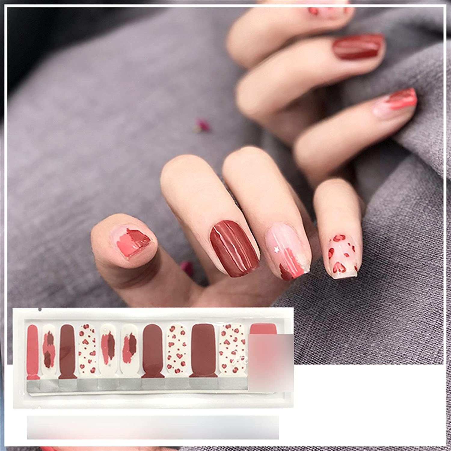 DFGJ Nail Stickers, Waterproof Nail Stickers Full Stickers,Creative Stickers, Environmentally Friendly Materials Can Be Given As Gift Graduation Gift (Color : 1): Home & Kitchen