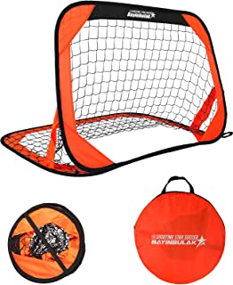 BAYINBULAK Pop Up Soccer Goal Portable Soccer Net for...