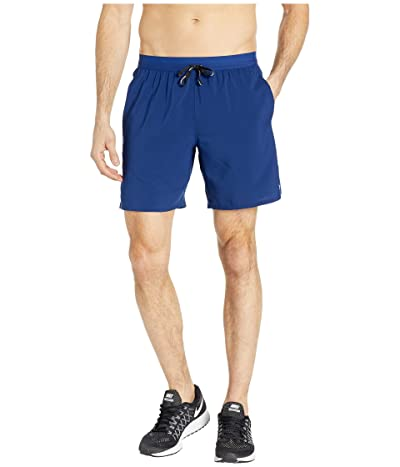 Nike Flex Stride Shorts 7 BF (Blue Void/Heather/Metallic Silver) Men