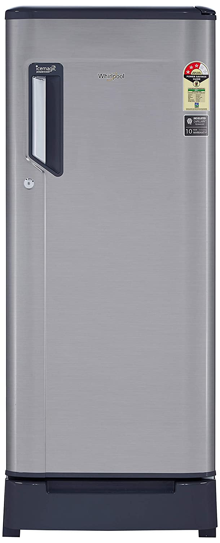 Whirlpool 215 L 3 Star ( 2019 ) Direct Cool Single Door Refrigerator (230 IMFRESH ROY 3S, German Steel)