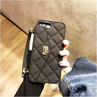 XS MAX case Luxury Silicone Card Wallet Mobile Chain Bag Messenger Phone case for iPhone X 7 7Plus 8 8Plus 6 6s Plus 6plus Cover,only Short Strap 6,for iPhone 8plus