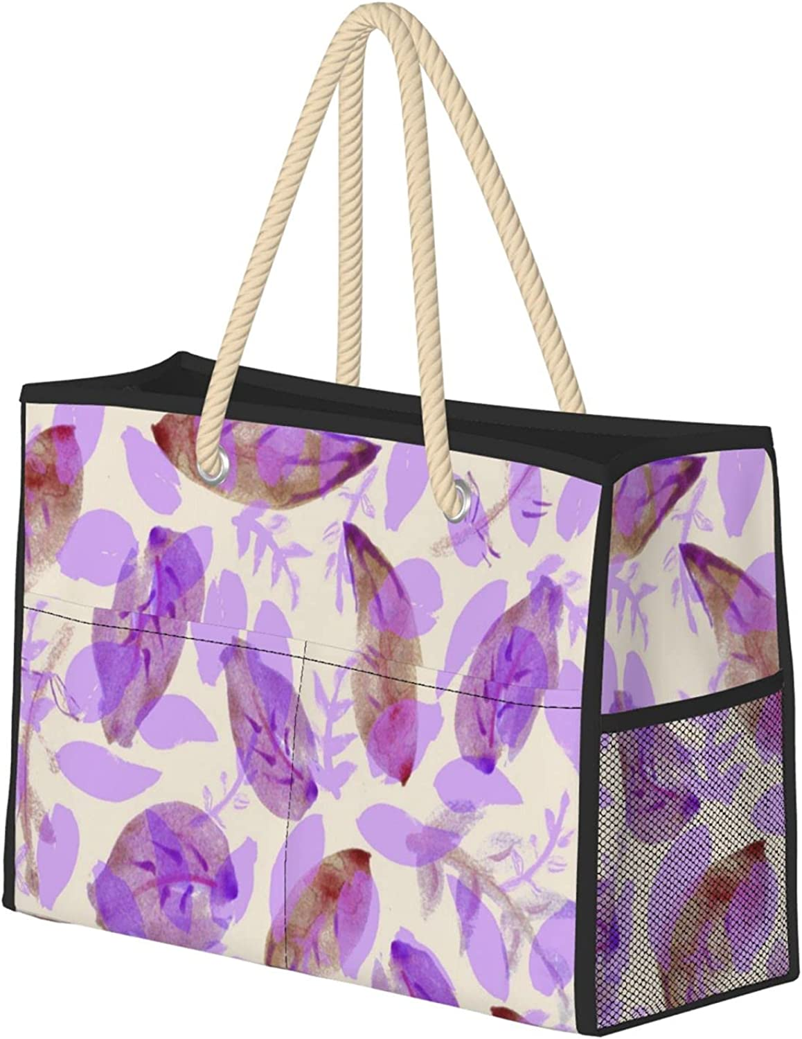 Watercolor Floral Pattern Women Beach Travel Tot Sale Special Price Bag Ranking TOP4 Utility