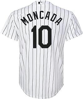 Yoan Moncada Chicago White Sox #10 White Kids Cool Base Home Replica Jersey
